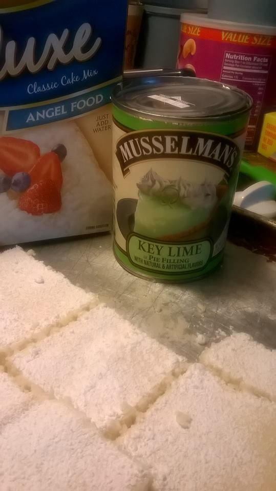 key lime angel food bars